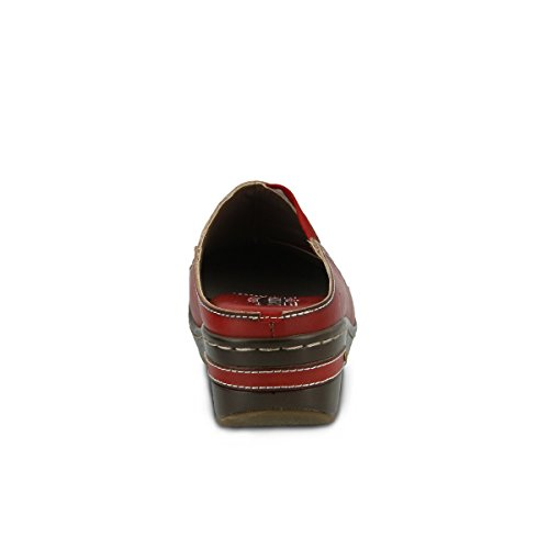 Women's Chino Red Hand Painted L'ARTISTE Leather Clog RdwARqv