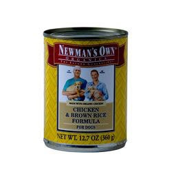 Newmans Own Organics Adult Chicken & Brown Rice Formula Canned Dog Food 12-12-oz cans