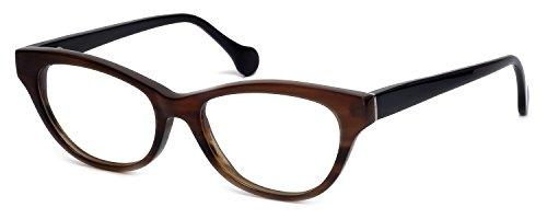s Buffalo Horn Designer Reading Glasses CEBH123 in Grey & Brown Horn +3.25 (Buffalo Horn Frames)