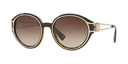 Sunglasses Versace VE 4342 108/13 HAVANA/PALE - Versace Sunglasses All