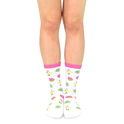 TeeHee Women's Easter Day Fashion Crew Socks 6 Pair Pack (Funny Easter) at Women's Clothing store