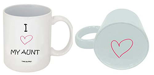 Funny Guy Mugs I Love My Aunt Ceramic Coffee Mug, White, 11-Ounce
