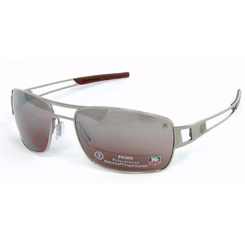 6f76661be67 Tag Heuer Speedway - Rimmed 0203 Sunglasses Plum End Tips   Plum Prime Lens  (601)  Amazon.co.uk  Clothing