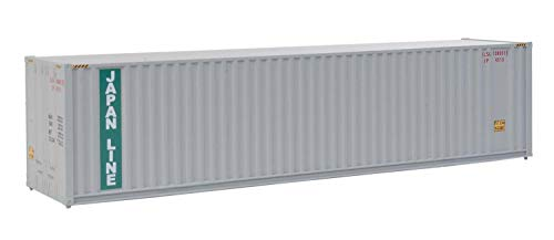 Walthers Trainline 40' Hi-Cube Corrugated Container w/Flat Roof Japan Lines - Assembled Train Collectable Train