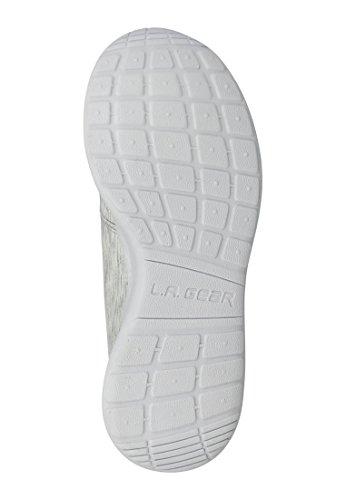 LA Gear zapatillas de deporte de la salida del sol textil Plata Textil L37-3604-07 Silver
