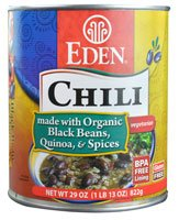 Eden Foods Chili Vegetarian Black Beans Quinoa & Spices -- 29 oz