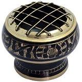 Indian, bol décoratif en cuivre gravé, encensoir mesurant 5x 5,5cm environ