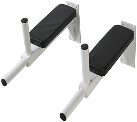 CLP Soporte Pared para Tríceps, Abdominales, Hombros I Estación Dips Entrenamiento 200kg Capacidad Máx. I Incluye Material de Montaje I Blanco