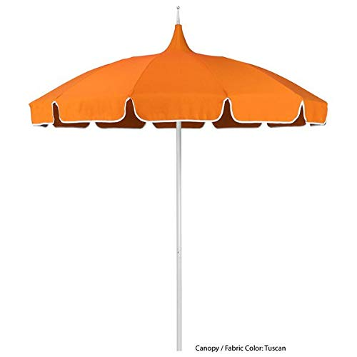 TableTop King SMPT 852 Sunbrella 2 Pagoda 8 1/2' Round Push Lift Umbrella with 1 1/2