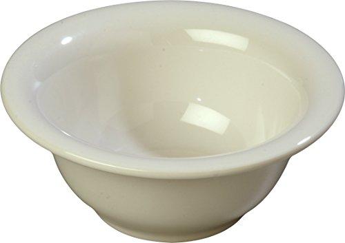 (Carlisle 3303842 Sierrus Melamine Rimmed Nappie Bowls ,10-oz, Bone (Set of 24))