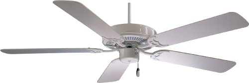 42' White Ceiling Fan (Minka-Aire F546-WH, Contractor, 42