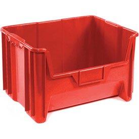 Heavy Duty Plastic Hopper Bin - Red - Price Each, Sold Pkg Qty 3