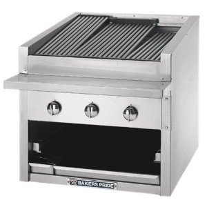 Liquid Propane Bakers Pride L-30R Gas Countertop Radiant Charbroiler High Performance Low Profile 30