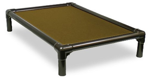 Khaki MED 35x23 Khaki MED 35x23 Kuranda Walnut PVC Chewproof Dog Bed Medium (35x23) Cordura Khaki