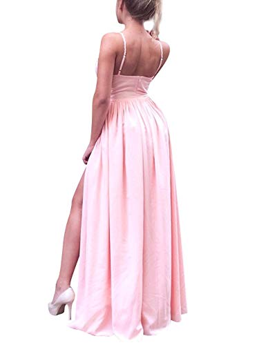 High Prom Women's Chiffon Evening Watermelon Party V Neck Dress Bess Split Bridal A Line zY5wxB4q