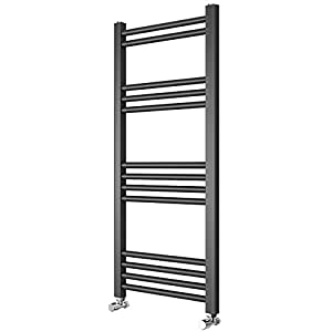 Requena Heated Towel Rail Anthracite Grey Bathroom Ladder Radiator – All Sizes (Straight, 1000×500)