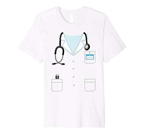 Mens Doctor's Lab Coat Overcoat Smock Dress Up