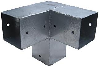Postes Conector, para 3 cantos Vigas de madera 12 x 12 cm, modelo esquina, postes (galvanizado, Instale su propia Pergola: Amazon.es: Bricolaje y herramientas