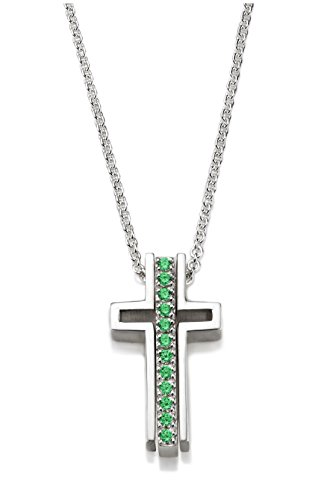 Trinity Three Part Emerald Cross Necklace Kindness