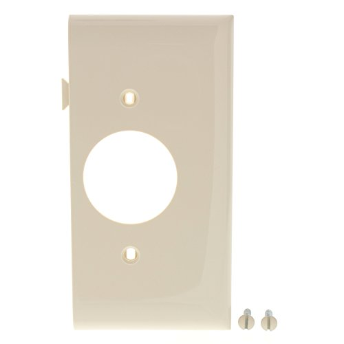 (Legrand-Pass & Seymour PJSE7LA Sectional Thermoplastic Wall Plate Junior Jumbo Single End Section, Light, Almond)