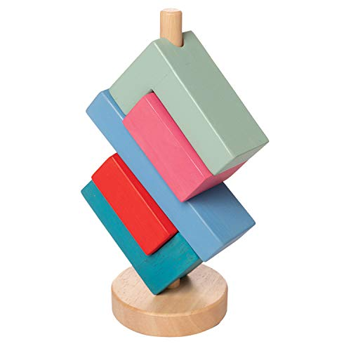 Manhattan Toy Bam Stack-A-Lacka Wooden Stacking Toy for - Manhattan Dark Wood