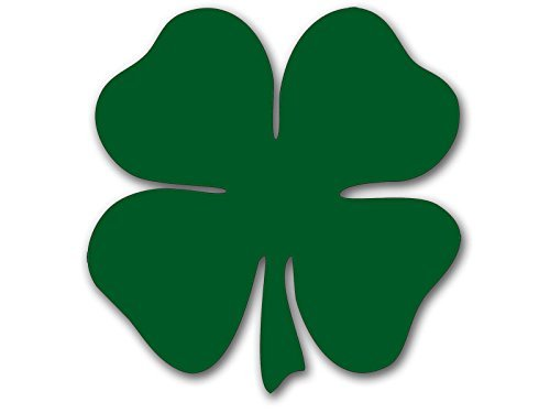- MAGNET GREEN Shamrock Shaped Magnetic Sticker (lucky irish clover boston)