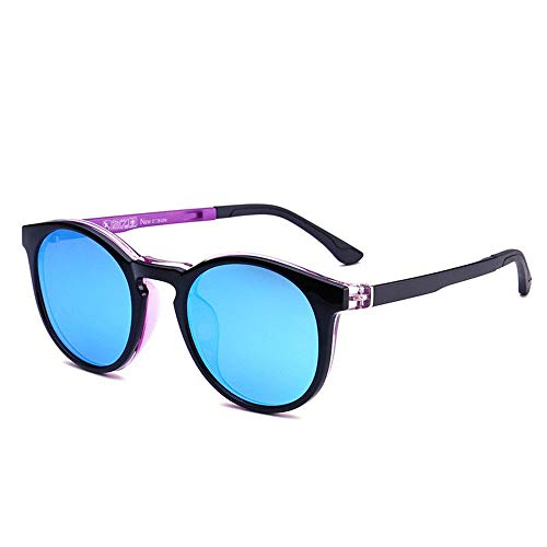de TR90 imán Espejo polarizado adsorción KOMNY C Sol Gafas Plano de Espejo miopía Juegos de Uso 8644 C Doble de Clip de Bdfww7x