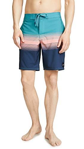 RVCA Men's SIN Fade Trunk, Cascade Blue, 30 (Swim Shorts For Men Rvca)