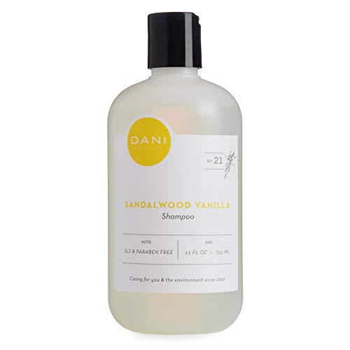 (Natural Moisturizing Shampoo by DANI Naturals - Warm Sandalwood Vanilla Essential Oil - Organic Aloe Vera & Coconut Cleansers - Sulfate, Phthalate & Paraben Free - Vegan & Cruelty Free - 12 Ounces)