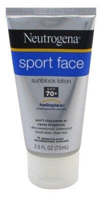 Neutrogena Sport Face Spf#70+ 2.5 Ounce Tube (73ml) (3 Pack)
