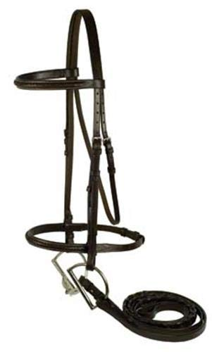 GATSBY LEATHER COMPANY 282901 Braided Bridle Havanna Brown, Horse