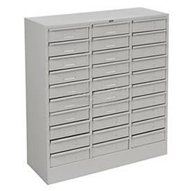 30 Drawer Organizer Filing Cabinet Color: Medium Grey ()
