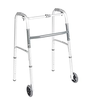 Drive Medical (a) Deluxe One Button Folding Walker Adult
