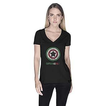 Creo Captain Kuwait T-Shirt For Women - M, Black