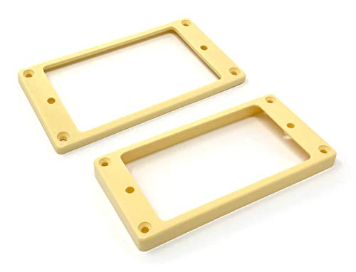 Cream Flat Bottom Humbucker Pickup Mounting Ring Set for Epiphone Guitars by VINTAGE FORGE | HR1300F-CRM