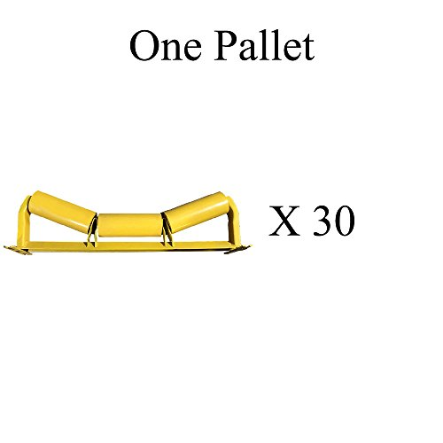 """C20-36 C5-20E-36 One Pallet (X30) of Trougher Equal Idlers – 20 Degrees, 5"""" Diameter, 36"""" Belt Width by AIS Construction Equipment"""
