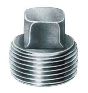1/4'' M-NPT 3000 lb Steel Square High Working Pressure Pipe Plug, (Pack of 10) by ProFitter