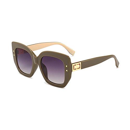 C de UV400 Negro Burenqi Square Lentes D Marca de Acetato del Sol Hombre Gafas Gafas gradiente de Mujer de Bastidor Moda 0Fq0Ha