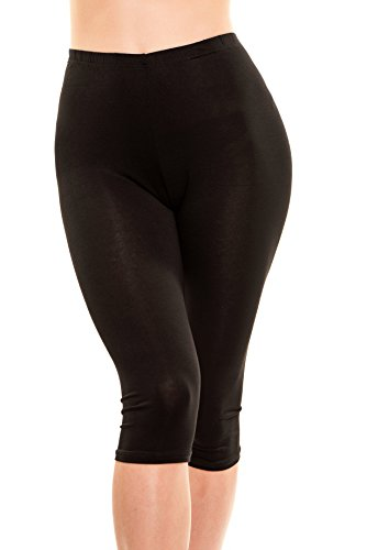 Issa Plus Yoga Capris - Yoga Leggings - Workout and Yoga Pants for Women with Plus Size (3XL, Black)