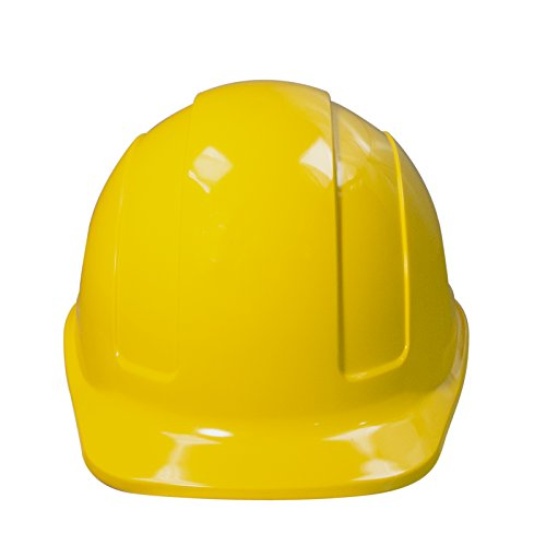 PPE By JORESTECH - HDPE Cap Style Hard Hat Helmet w/Adjustable Ratchet Suspension For Work, Home, and General Headwear Protection ANSI Z89.1-14 Compliant (Yellow)