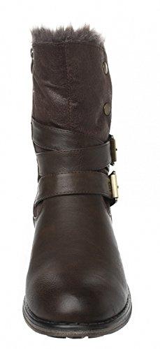 Donna Talpa Stivali Fitters Footwear Marrone znXqT