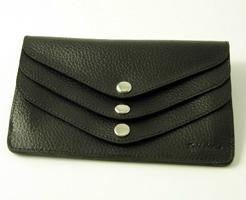 pebble-grained-leather-3-flap-wallet-black