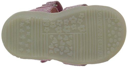 Agatha Ruiz de la Prada Vouzela - Zapatos de primeros pasos Bebé-Niños Rosa - Rose (C Cheiw Serraje Laminado)
