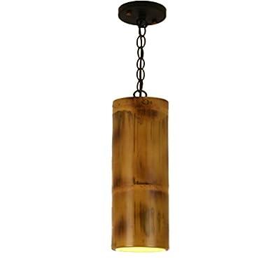 CSQ Vintage Bamboo Chandelier, Bar Chandelier Bamboo Tube Retro Restaurant Chandelier Corridor Lights Checkout Counter Engineering Pendant Lamp 1038CM ???????? (Size : 1038CM)