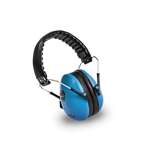 EMS for Kids Earmuffs - Blue. The Original Folding Children's Earmuff Since 2007. Use at Loud Events Including NASCAR, air Shows, Concerts, Festivals and More! by Ems for Kids