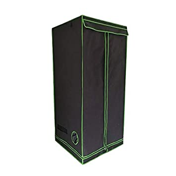 80X80X180Cm Grow Tent Bud Dark Green Room Garden Hydroponics Box Mylar Silver