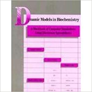 Book Dynamic Models in Biochemistry: A Workbook of Computer Simulations Using Electronic Spreadsheets by Daniel E. Atkinson (1987-01-30)
