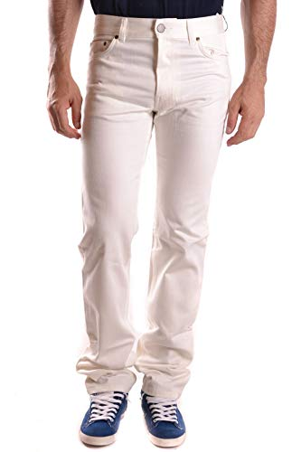 Marc Jacobs Men's Mcbi26629 White Cotton Jeans