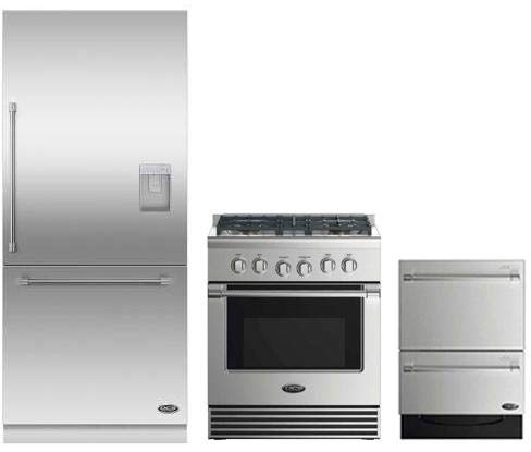 DCS 3 Piece Stainless Steel Kitchen Package With RDV2304L 3O
