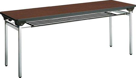 コクヨ 会議 ミーティング用テーブル KT-500シリーズ 角脚メッキ  脚折りたたみ式 棚なし 幅1800×奥行き450mm 天板カラー:P1E B00AT82W9U